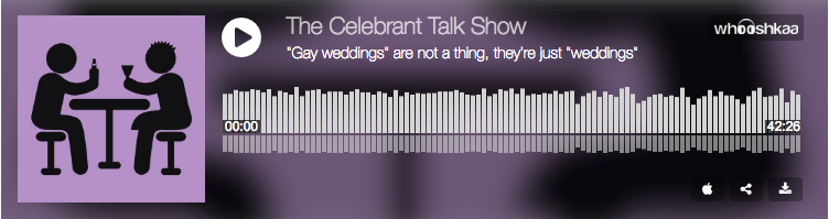 The Celebrant Talk Show: Gay weddings are not a thing